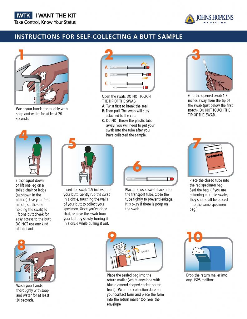 Instructions for Self Collecting a Butt Sample